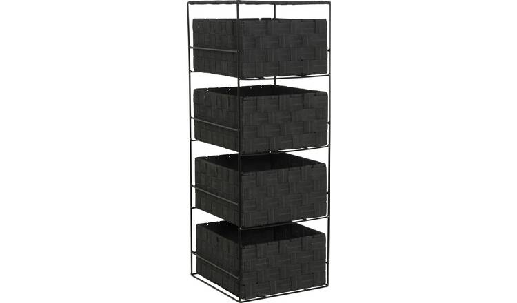 Argos Home 4 Drawer Storage Unit - Jet Black