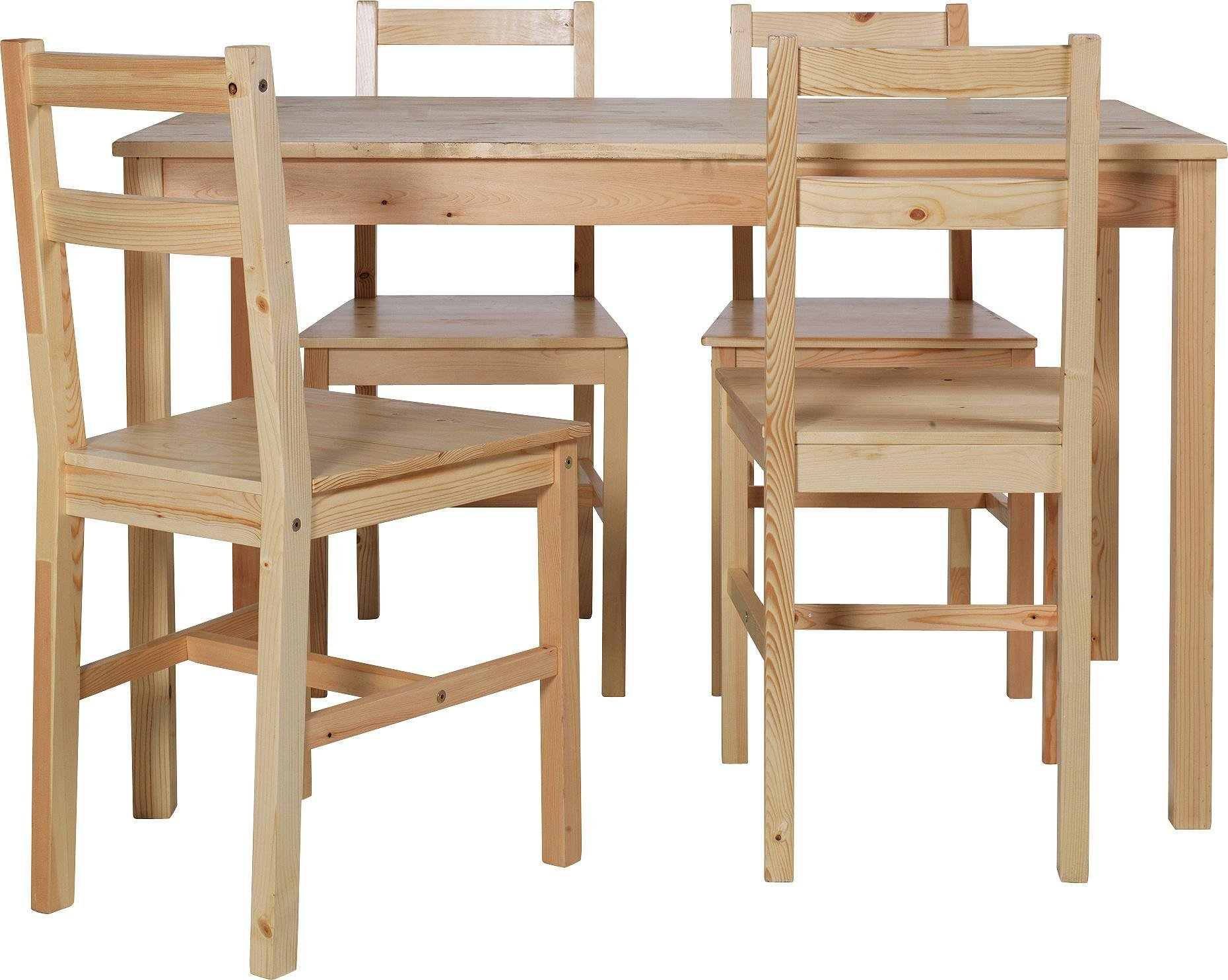 Home raye solid wood dining table and 4 chairs natural review - Natural oak dining table and chairs ...