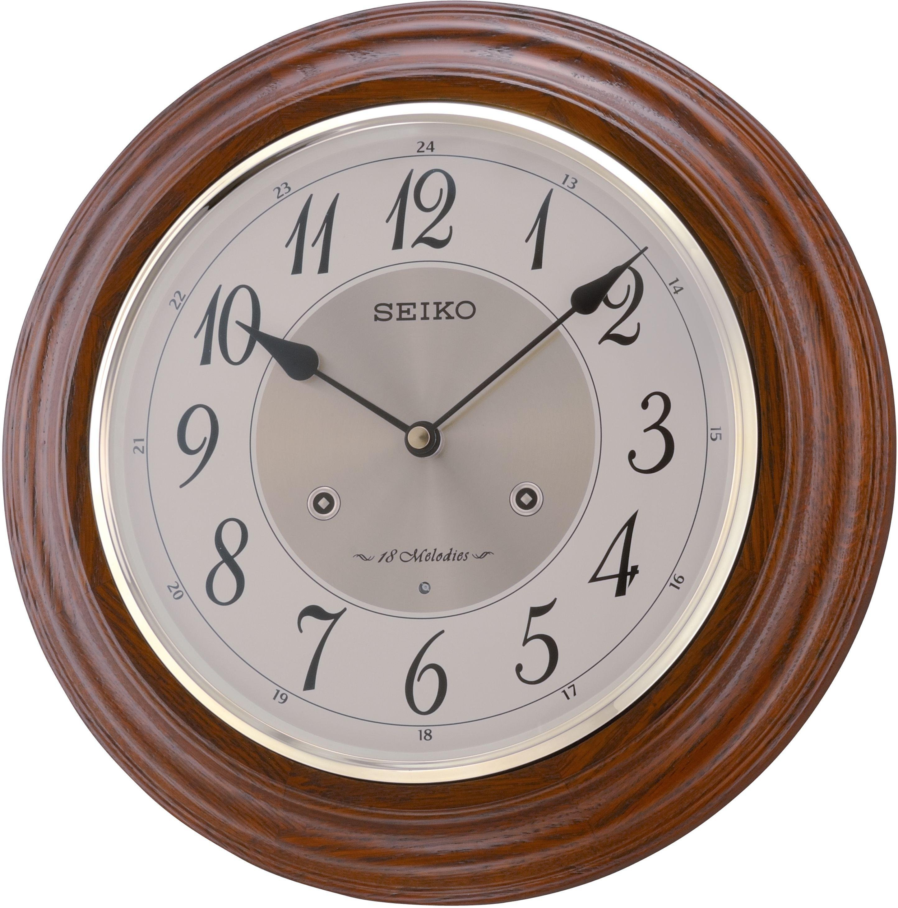 Seiko Moving Melody Wall Clock With Led Lights