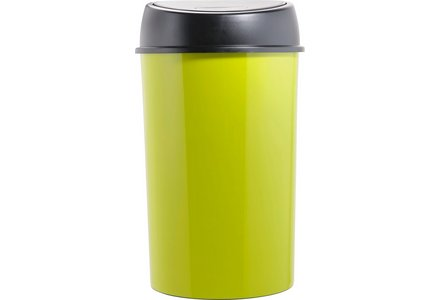 Curver 50 Litre Touch Top Bin - Apple Green