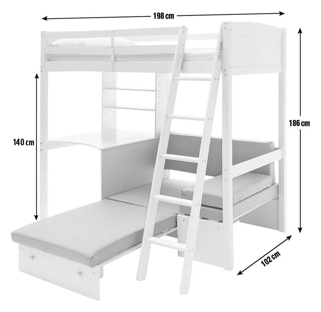 Argos Home Classic High Sleeper with Sofa Bed & Ashley ...