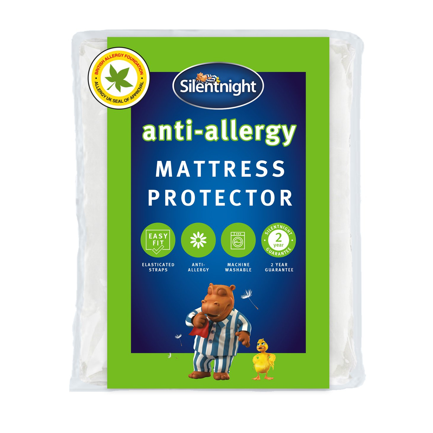 silentnight  antiallergy  mattress protector  kingsize