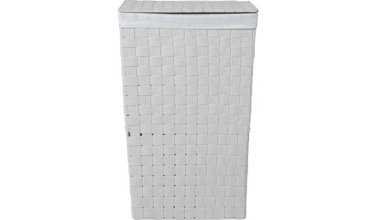 Argos Home 60 Litre Yarn Laundry Bin - White