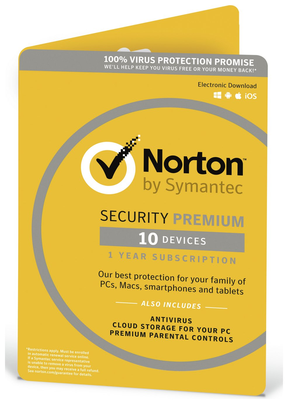 Symantec Norton - Security Premium with Backup - 1 User/10 Devices