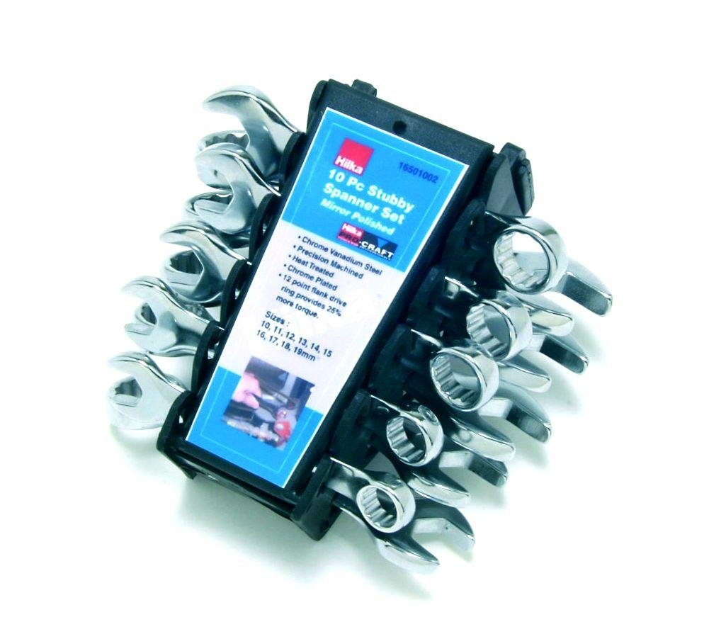 Image of Hilka - 10 Piece Stubby Combination Spanners