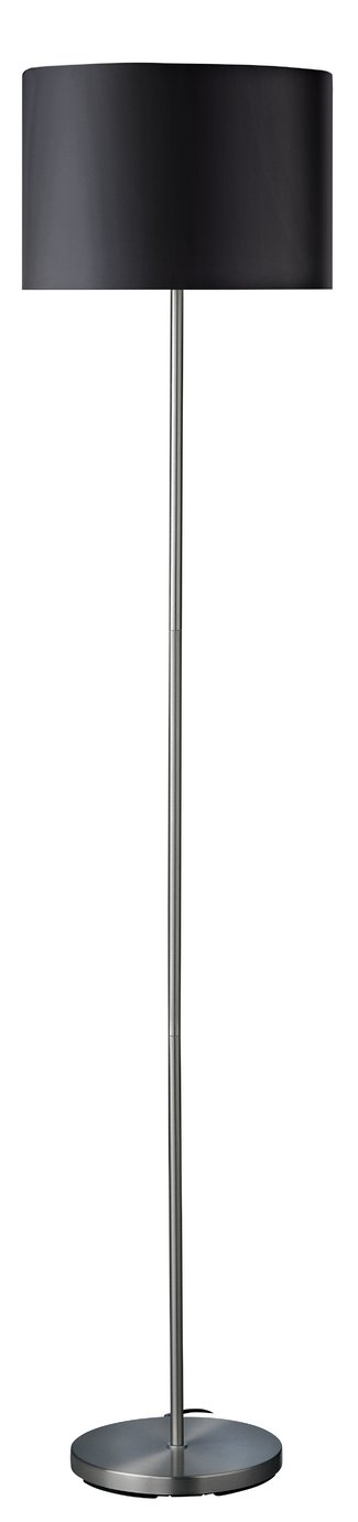 Argos Home Satin Stick Floor Lamp - Jet Black