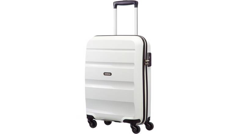 abc168100230 Buy American Tourister 4 Wheel Hard Cabin Suitcase - White | Suitcases |  Argos