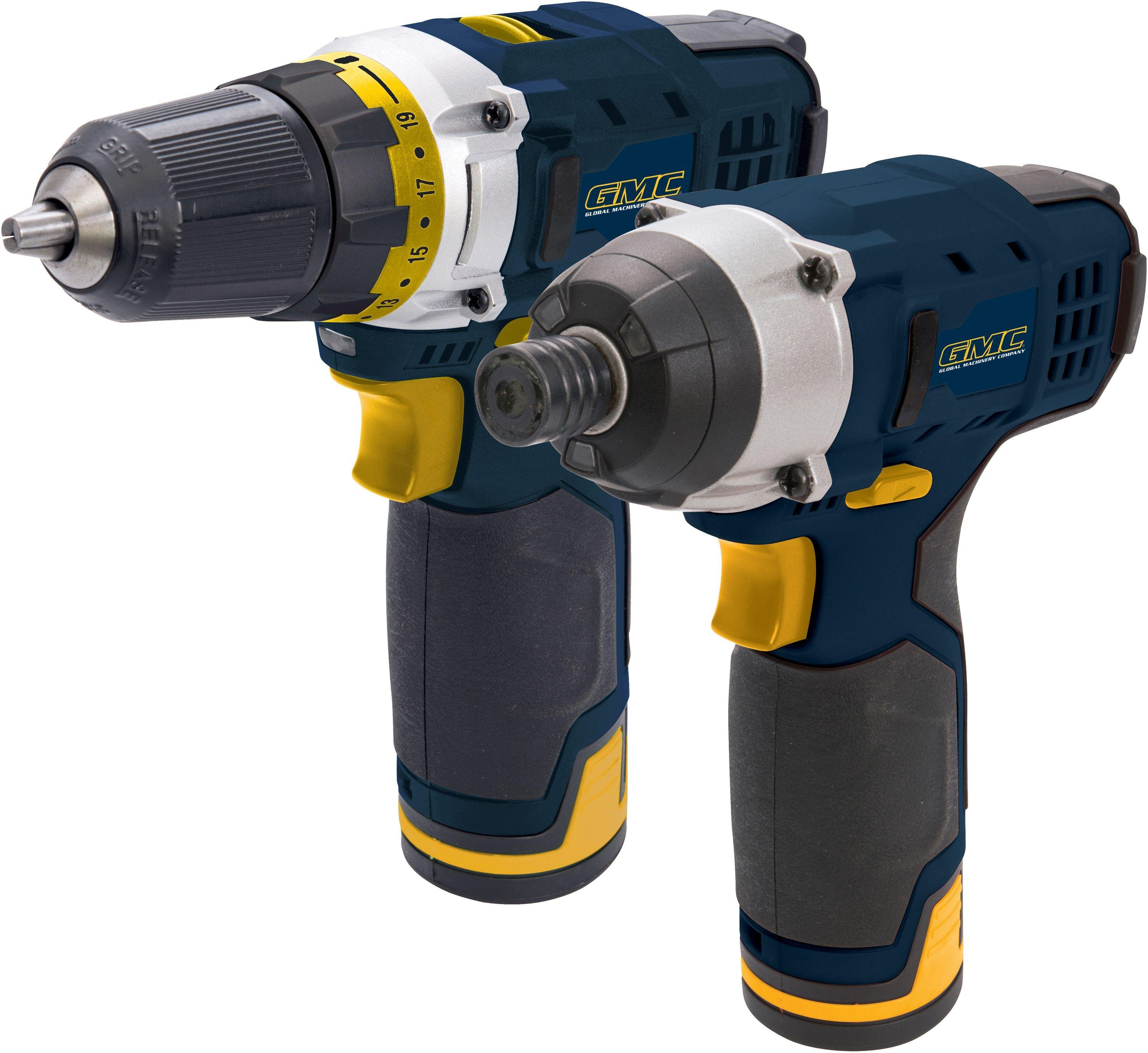 GMC Cordless Drill and Impact Driver Twin Pack - 12V