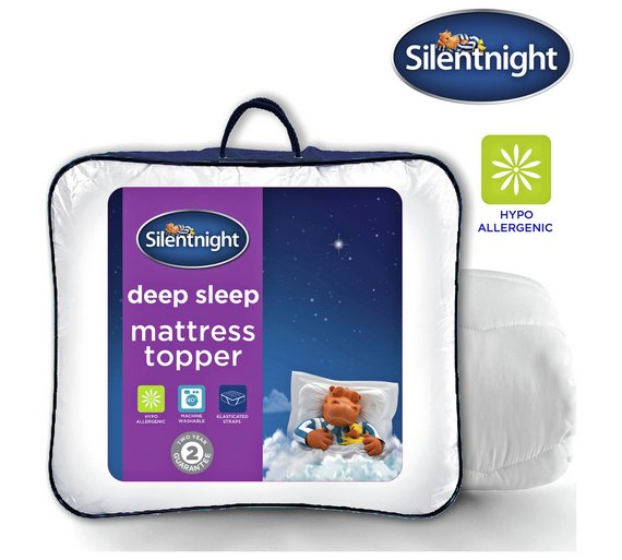 buy silentnight deep sleep mattress topper double at. Black Bedroom Furniture Sets. Home Design Ideas