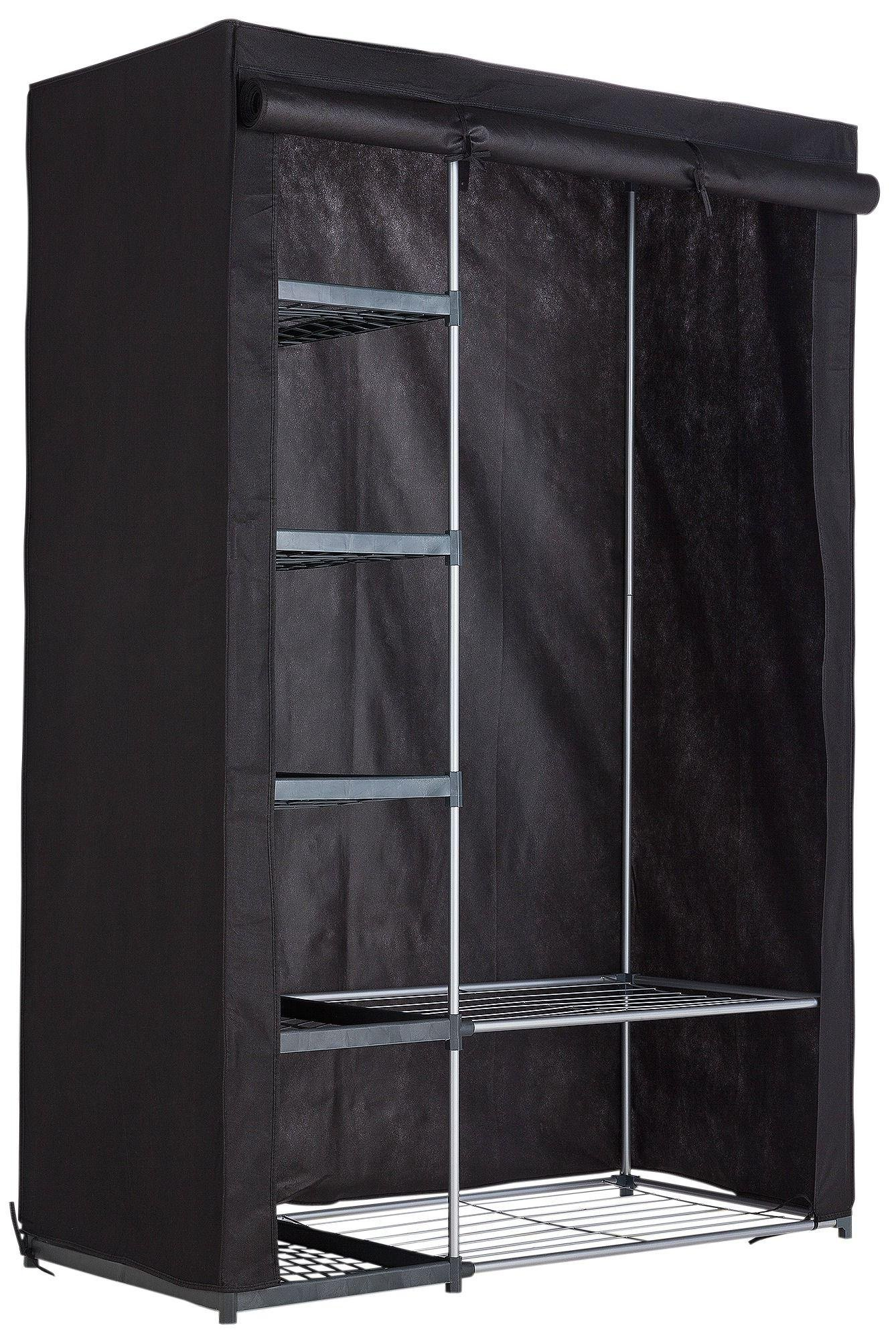 Argos Home Metal and Polycotton Double Wardrobe - Black