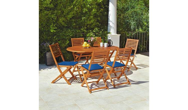 Buy Argos Home Newbury 6 Seater Wooden Patio Set Garden Table