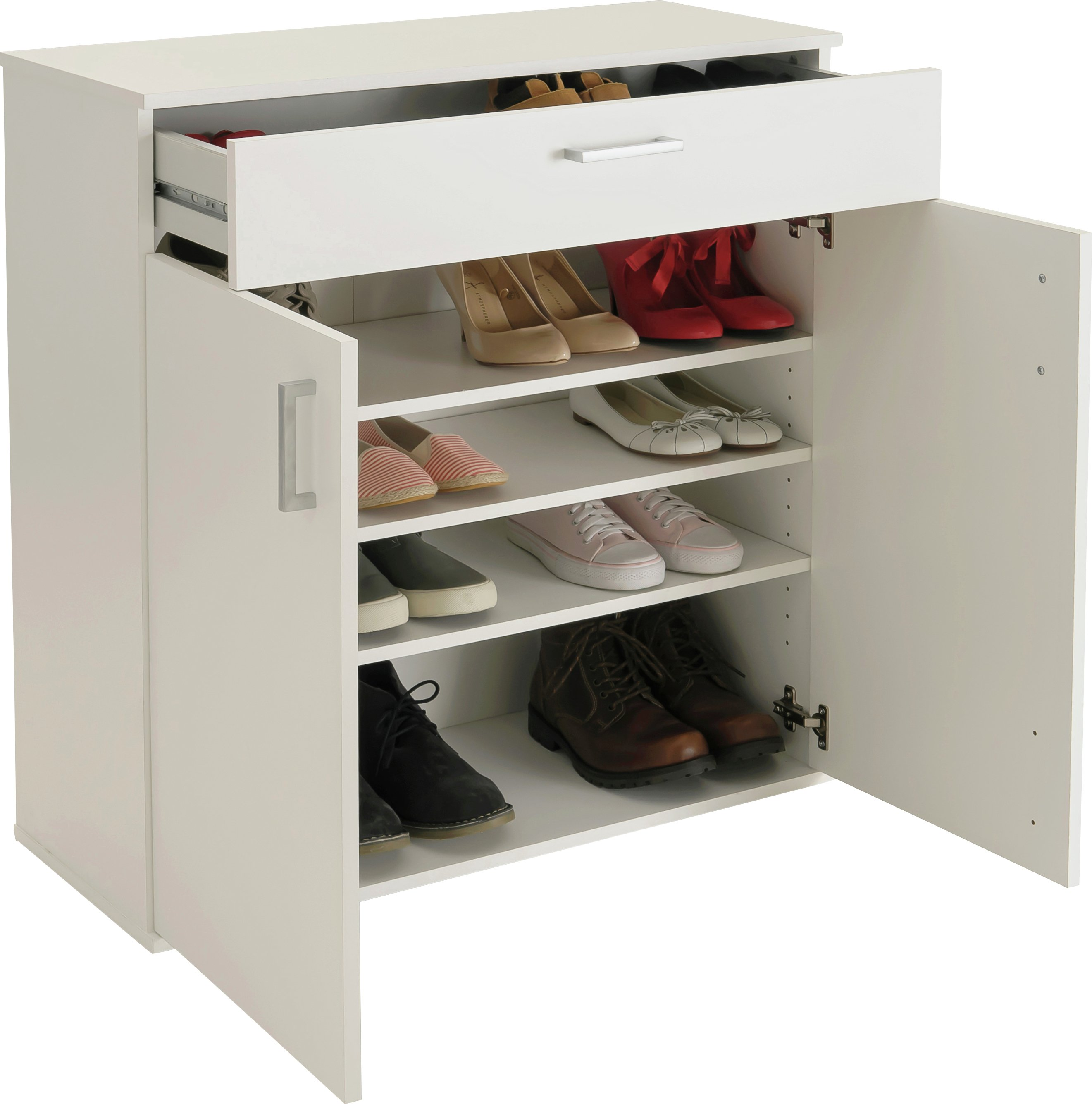 HOME Venetia Shoe Storage Cabinet   White