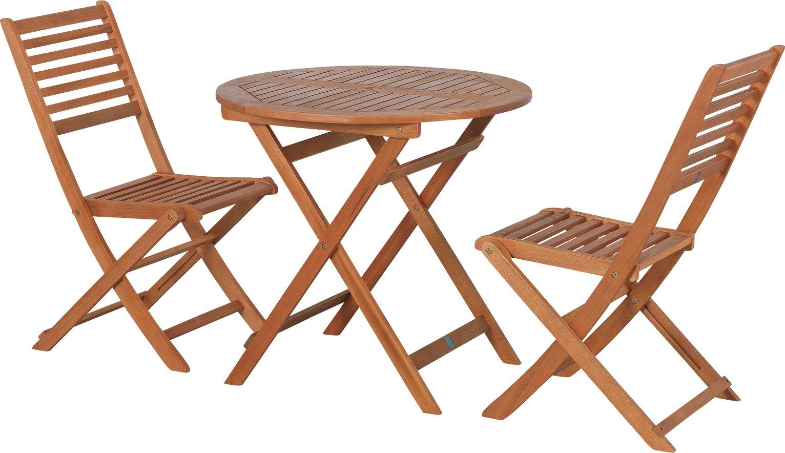 Argos Home Newbury 2 Seater Wooden Bistro Set