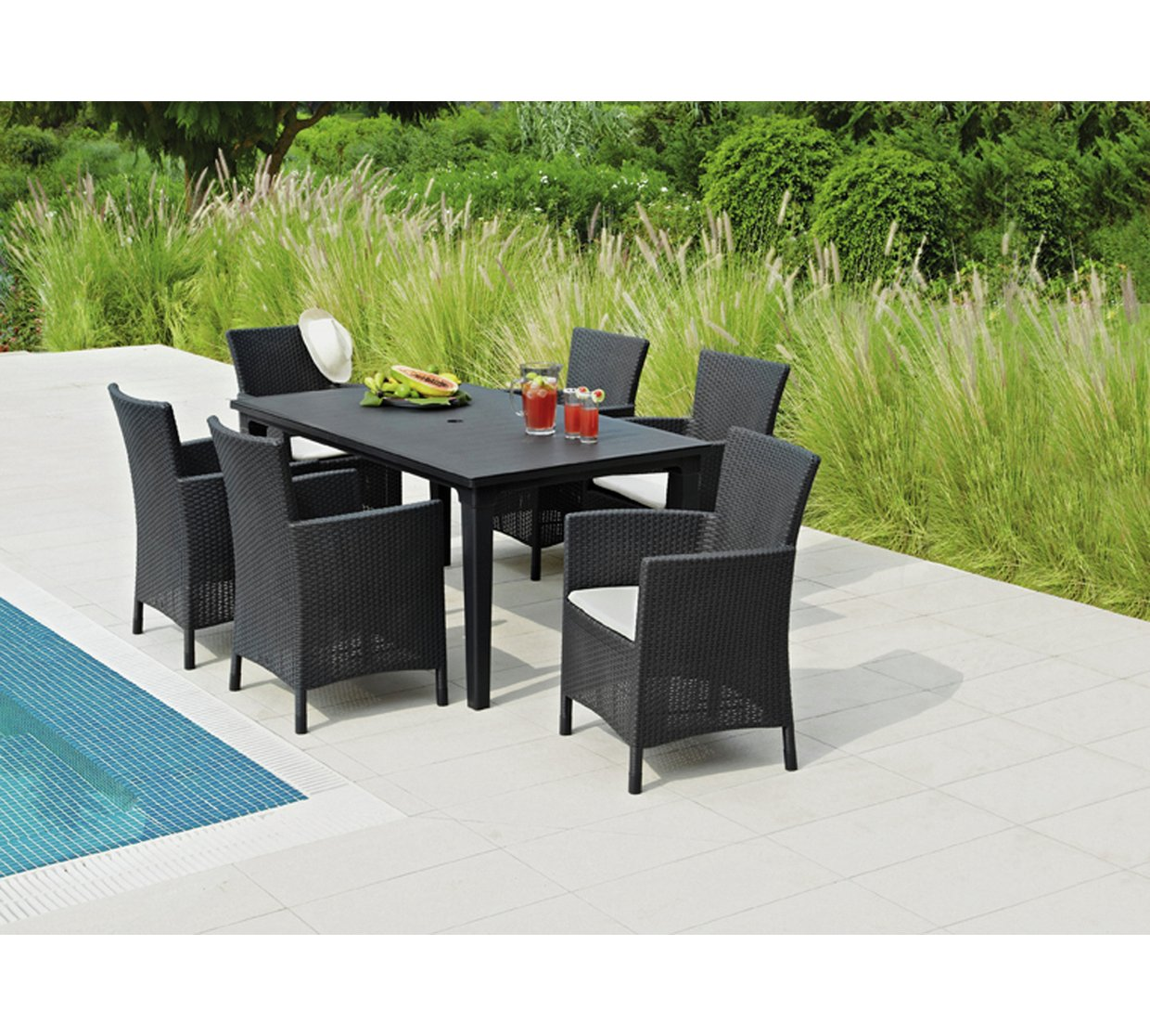 http   media 4rgos it i Argos 3239964 R Z007A. Keter Iowa Rattan style 6 seater garden furniture dining set in