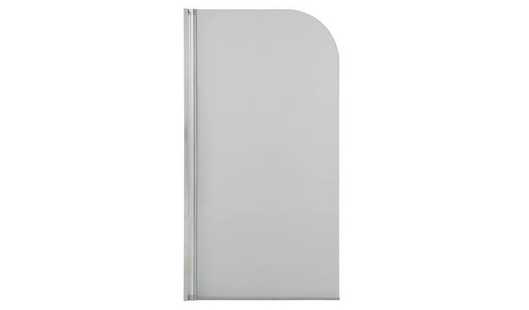 Croydex 1/2 Framed Radius Bath Screen - Aluminium & Glass