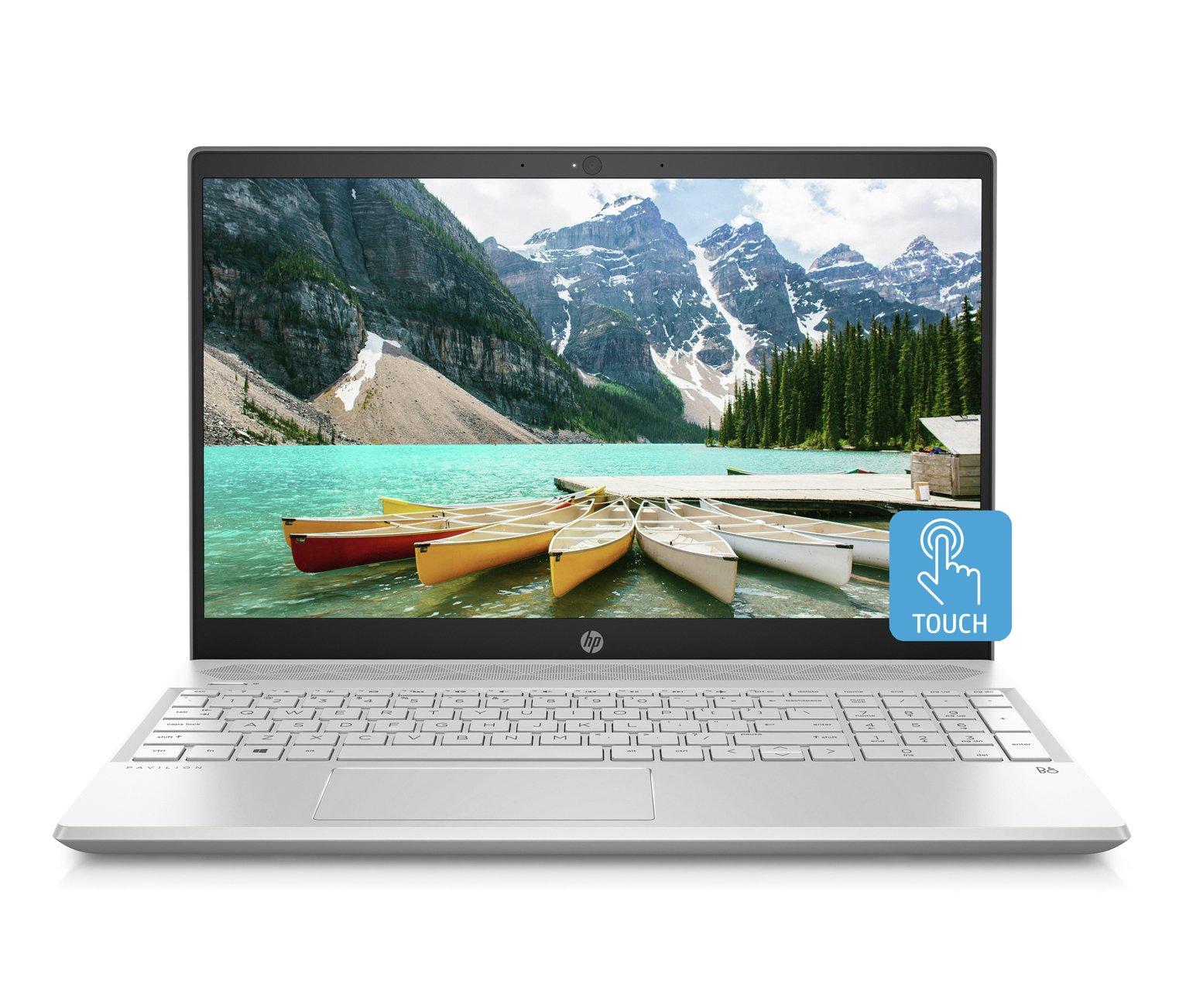 HP Pavilion 15.6 Inch A9 4GB 128GB FHD Touch Laptop - Silver