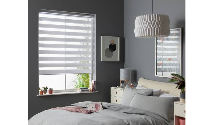 Argos Home Day and Night Roller Blind - 4ft - White