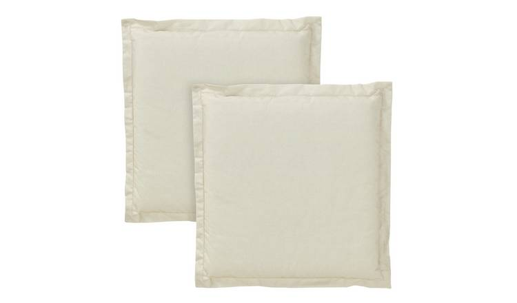 Argos Home 2 Pack Garden Cushion Pads - Cream
