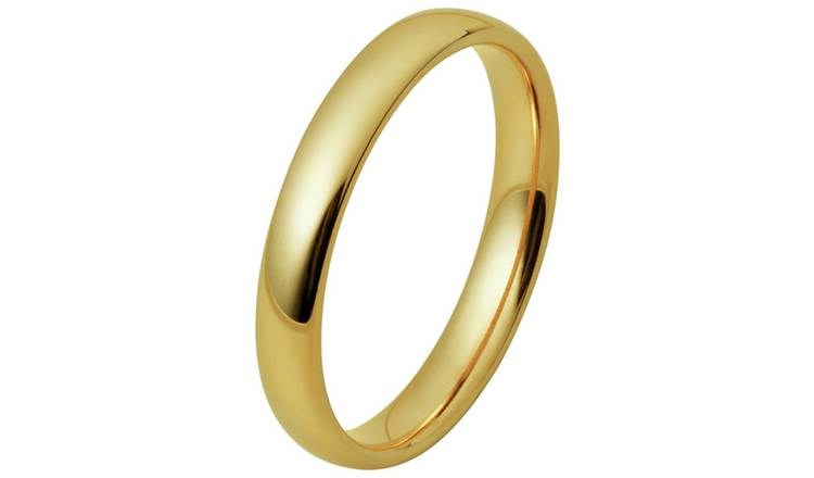 Inara Gold Plated Ceramic Stacking Ring - Large