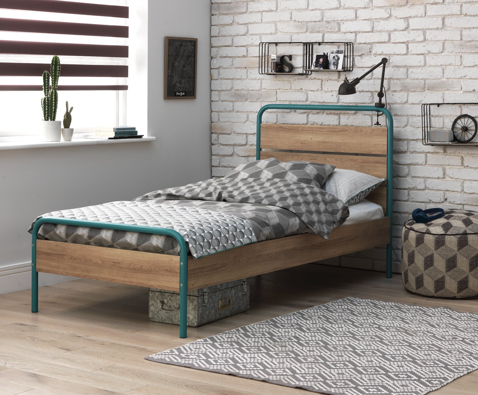 Argos Home Industrial Single Bed Frame