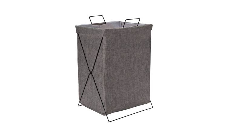 Argos Home Fabric & Wire Laundry Basket - Grey