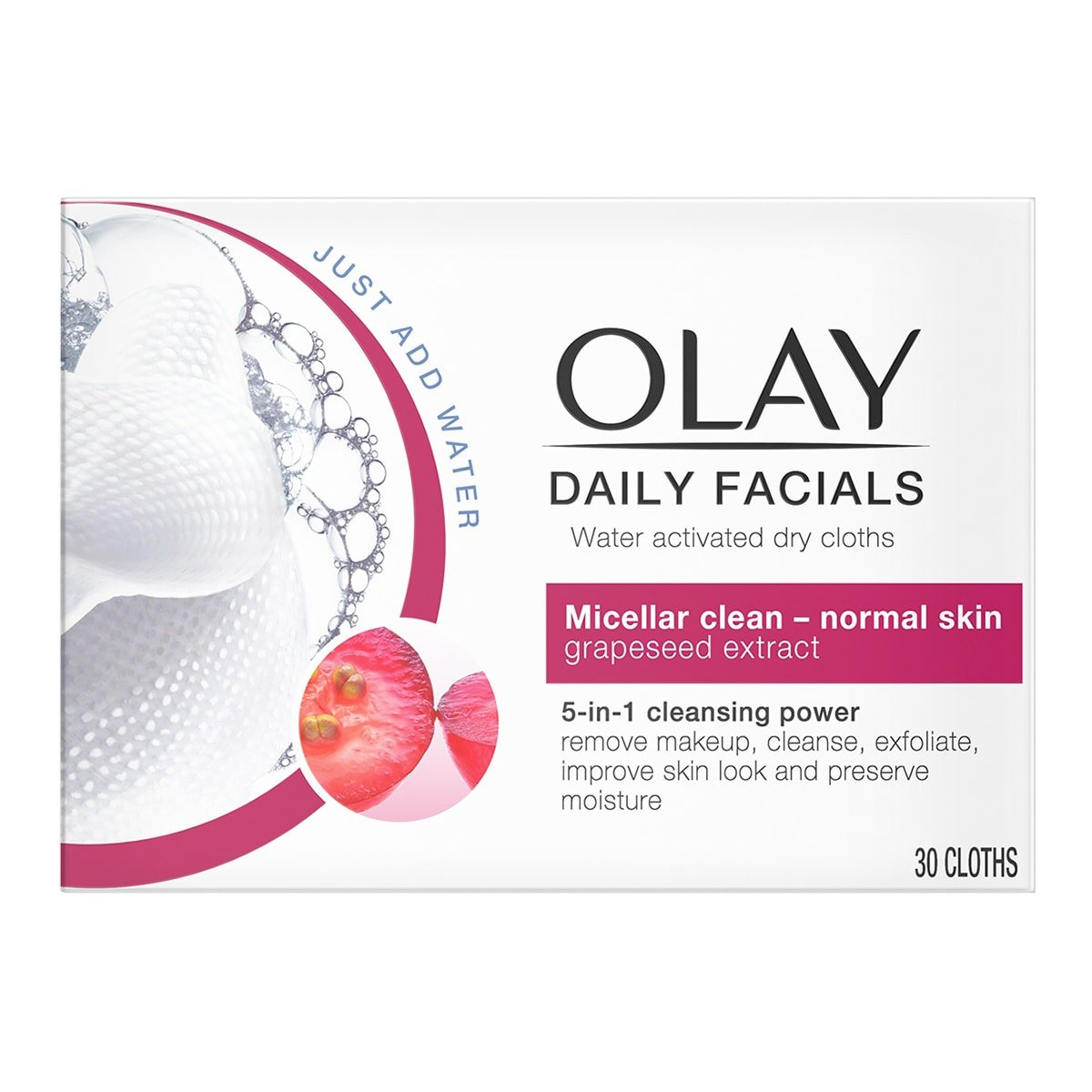 Olay Daily Facial Cloths - Pack of 30