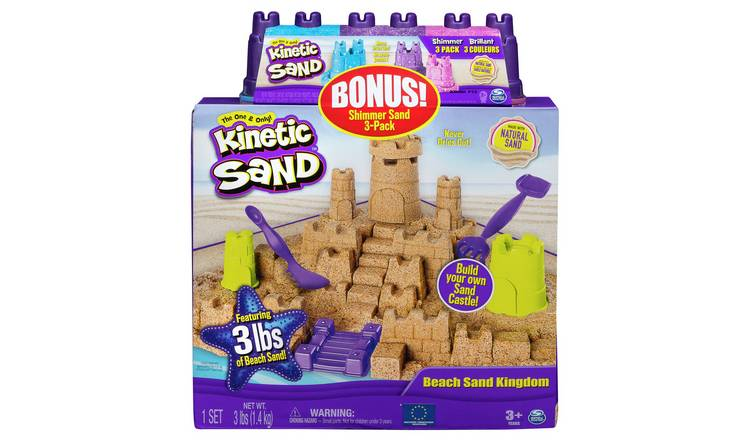 Kinetic Sand Beach Sand Kingdom & Shimmering Sand Multipack