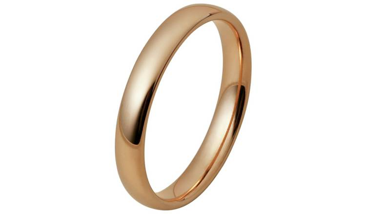 Inara Rose Gold Plated Ceramic Stacking Ring - Small