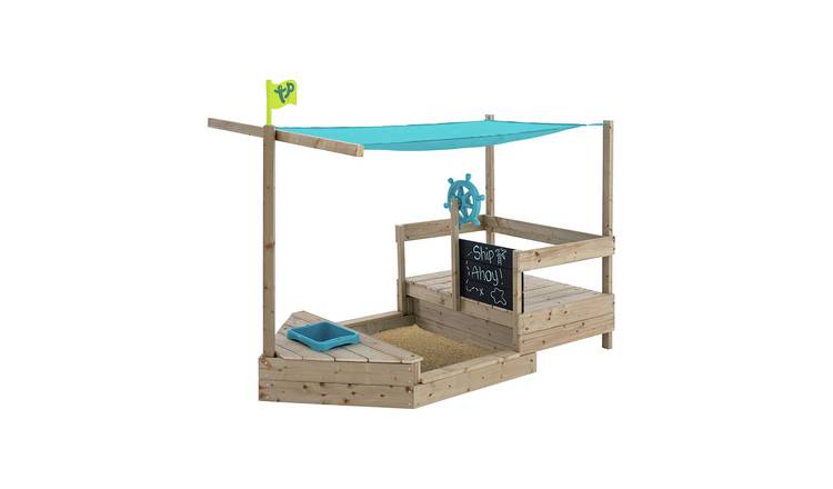 TP Ahoy Wooden Play Boat Sand and Water Pit from Argos' garden toy range