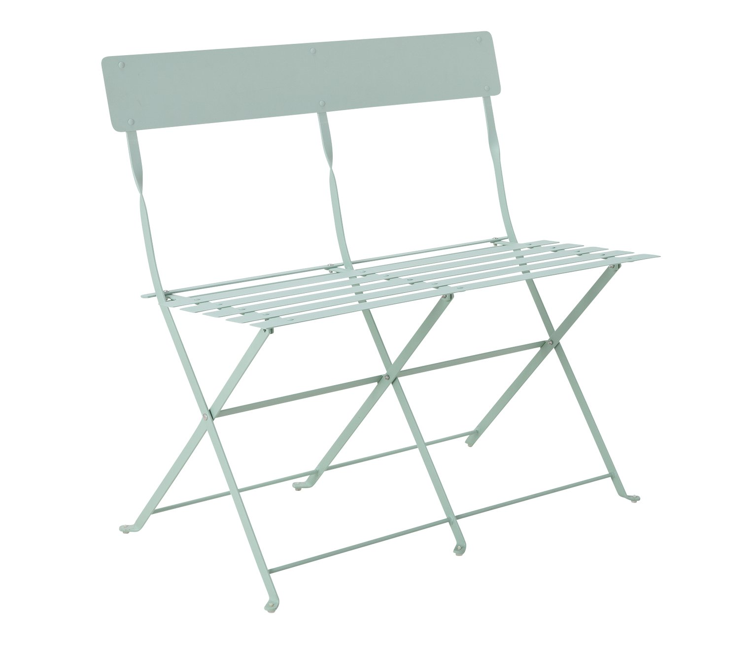 Argos Home Eve Metal 2 Seater Garden Bench - Sage Green