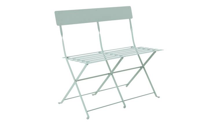 Buy Argos Home Eve Metal 2 Seater Garden Bench Sage