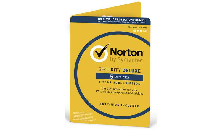 Norton Security Deluxe 2019 - 5 Devices for 1 Year