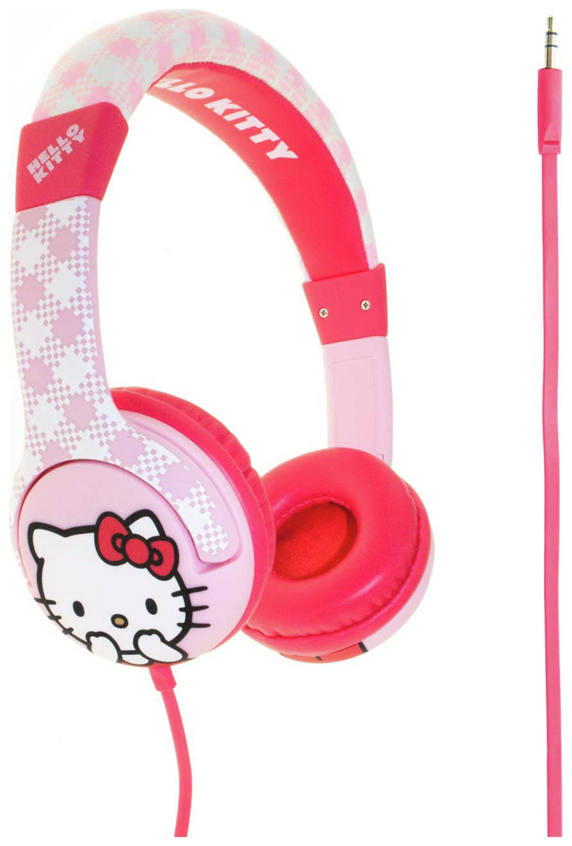 Image of Hello Kitty Junior On Ear Headphones - Pink Gingham