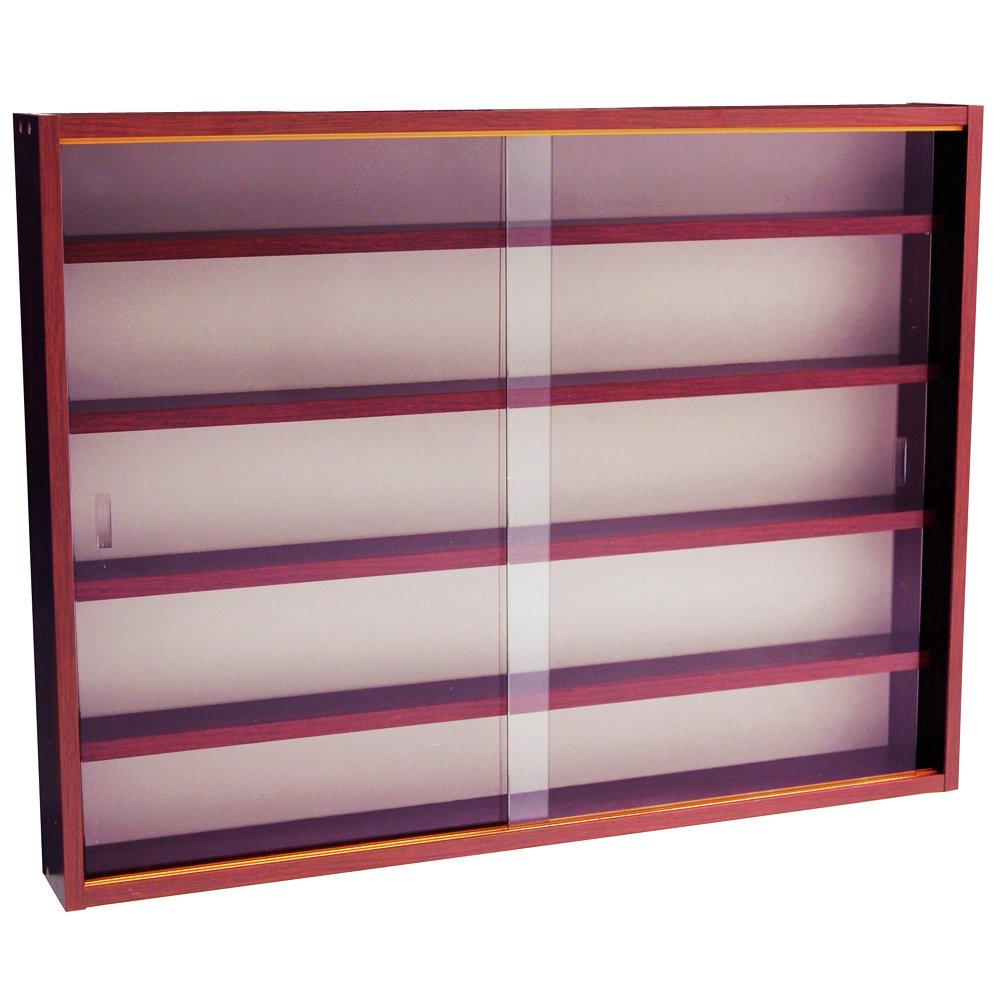 Image of 2 Door Glass Wall Display Cabinet - Mahogany