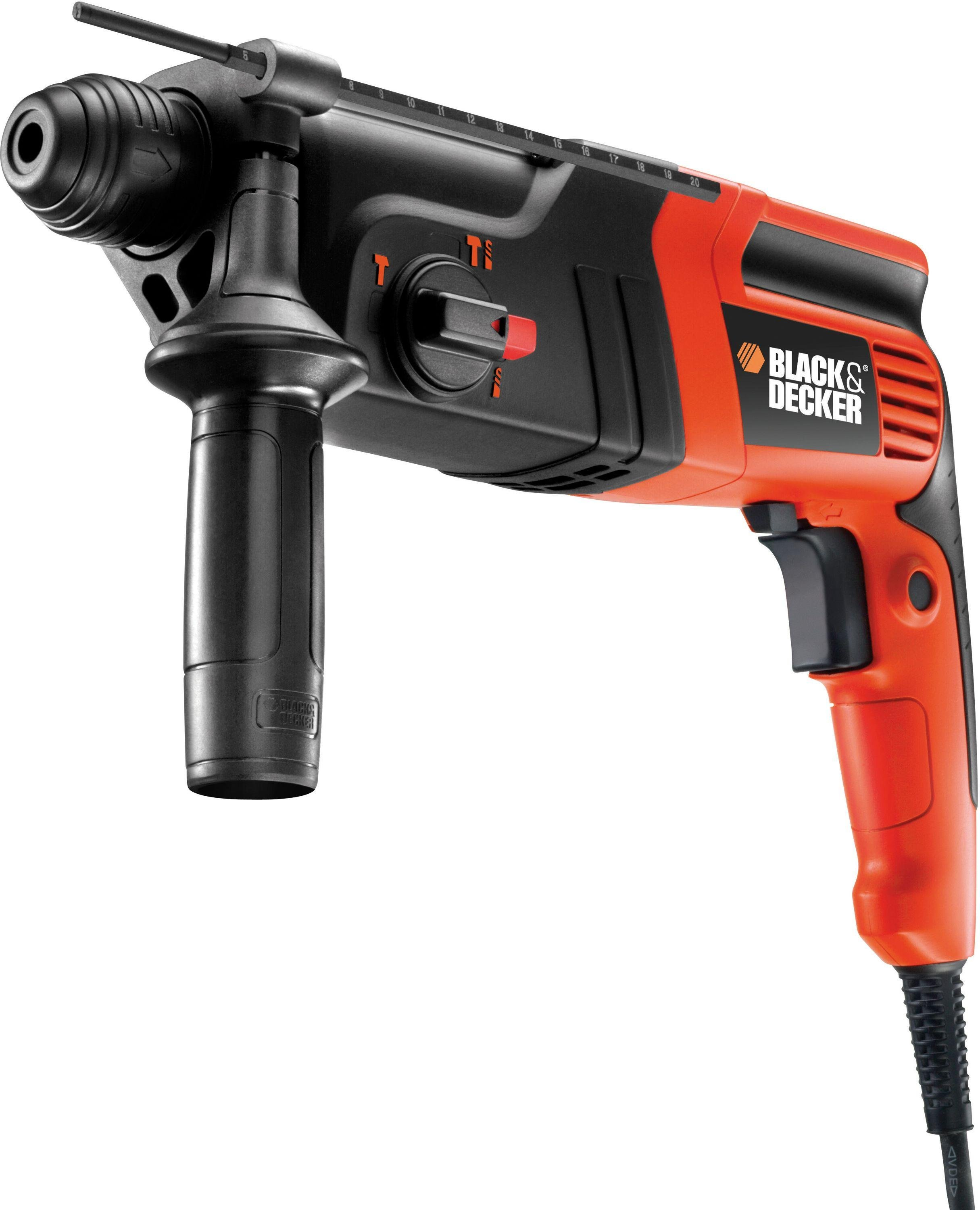 Image of Black and Decker - 600w SDS Pnuematic Hammer Drill and Kitbox