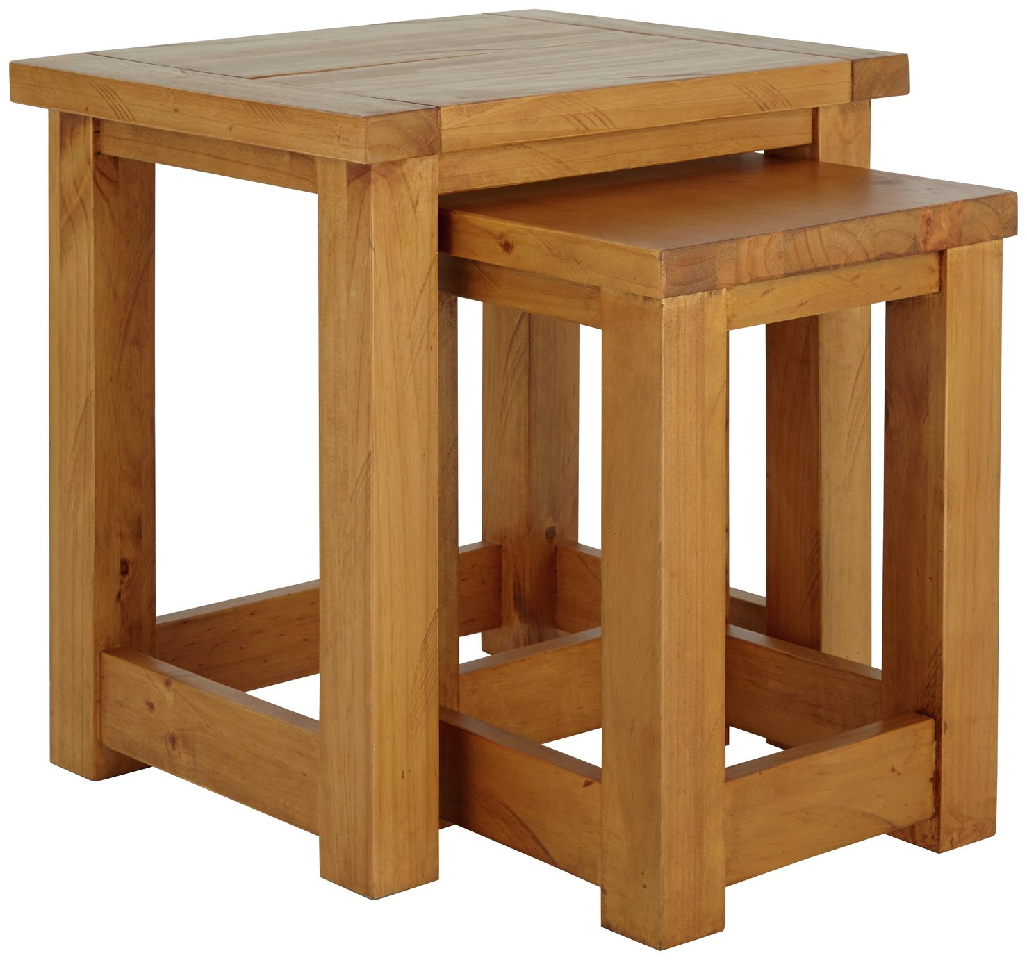Argos Home Harvard Nest of 2 Tables - Solid Pine