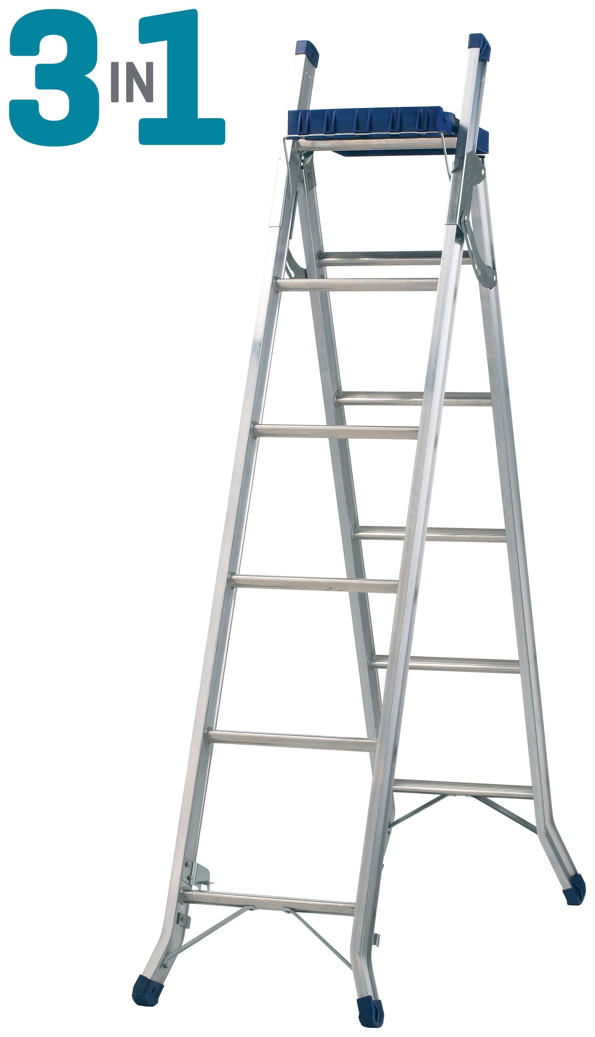 Abru CombinationLadder 3in1 with Tray 3.4m Ext.ReachHeight*