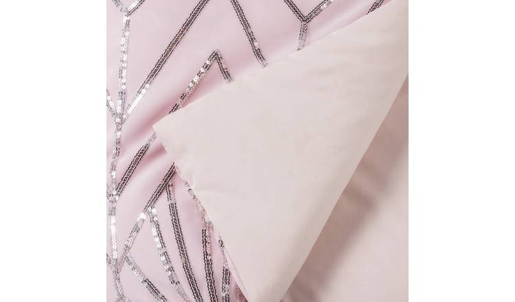 Argos Home Sequin Bedspread - Blush