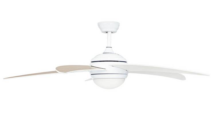 Argos Home Manhattan Ceiling Fan - White