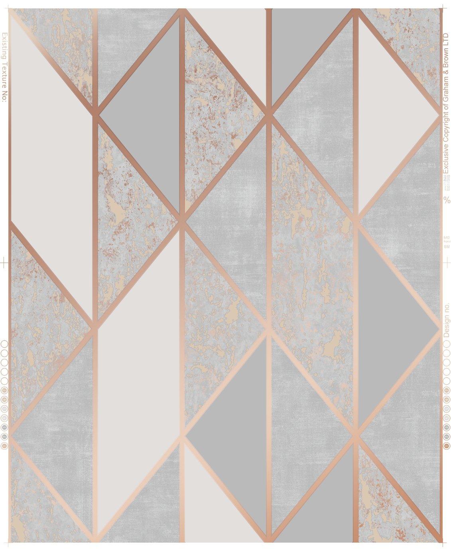 Superfresco Milan Rose Gold Geometric Wallpaper