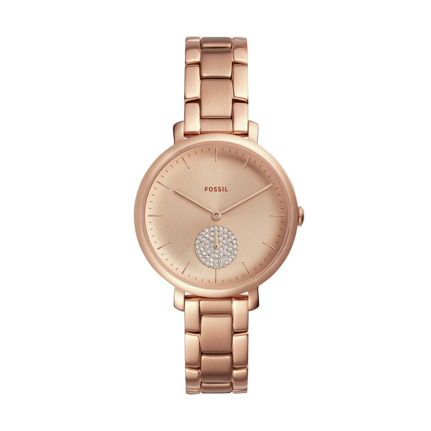 Fossil Ladies Rose Gold Coloured Bracelet Watch