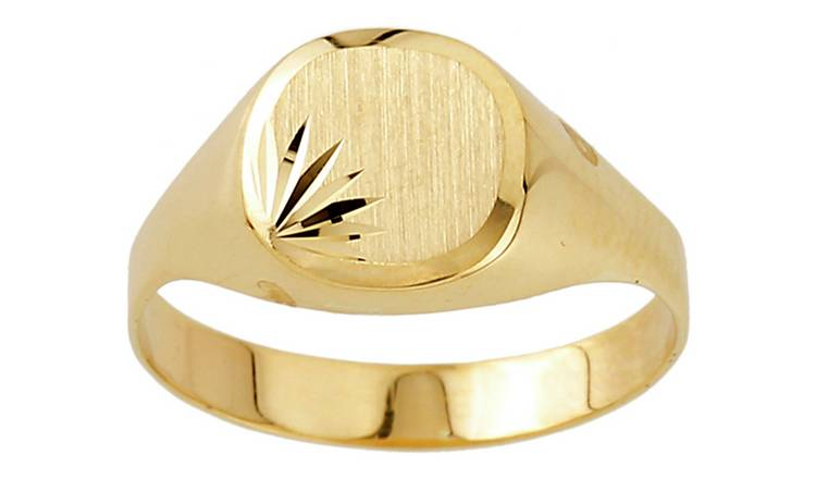Revere 9ct Gold Plain Signet Ring - R
