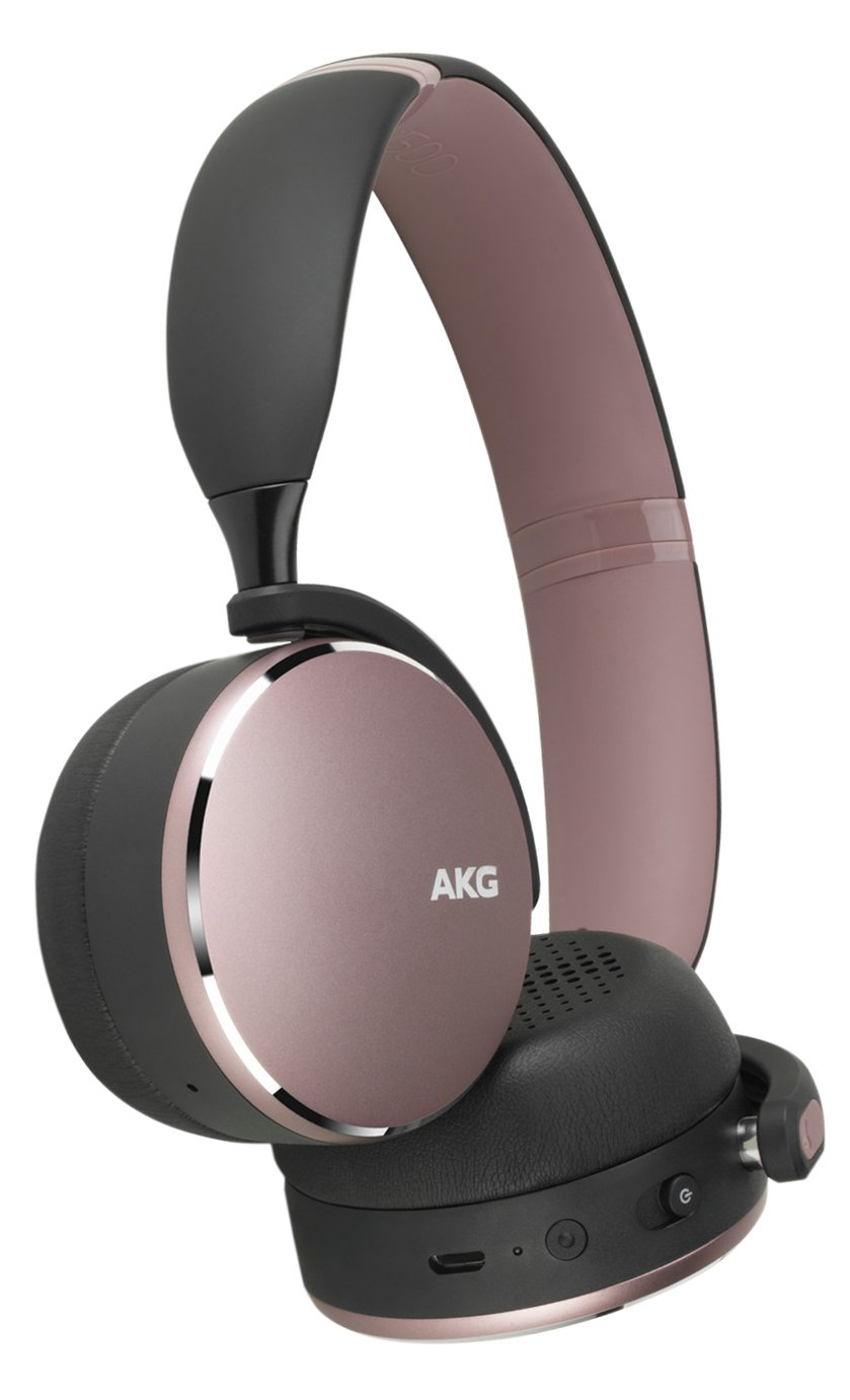 AKG Y500 On-Ear Wireless Headphones - Pink
