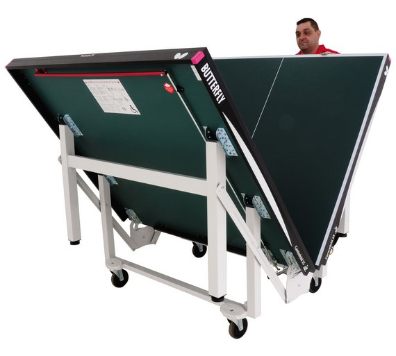 Buy butterfly centrefold indoor table tennis table green for Table tennis 99