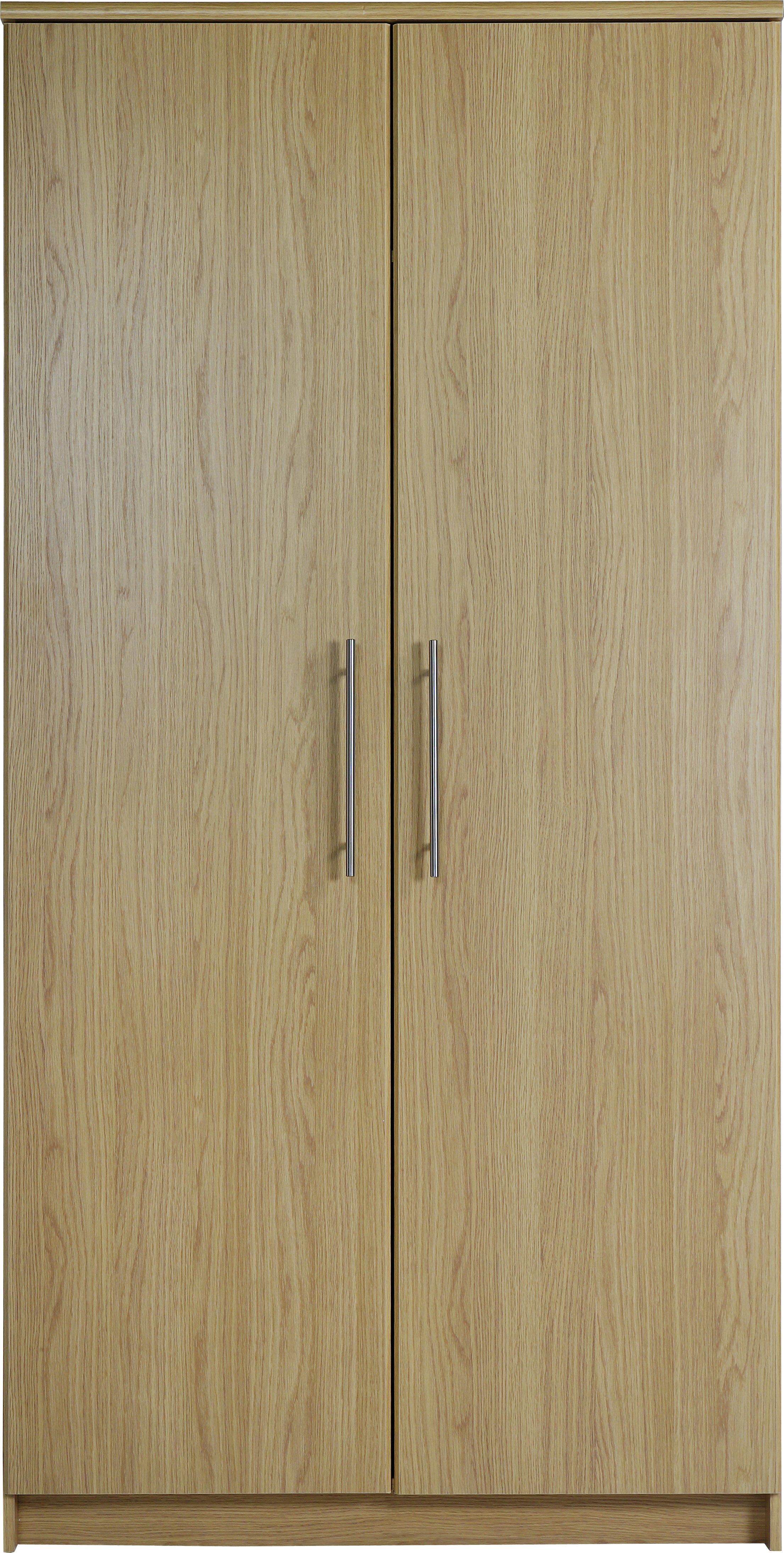 Argos Home Normandy 2 Door Wardrobe - Oak Effect