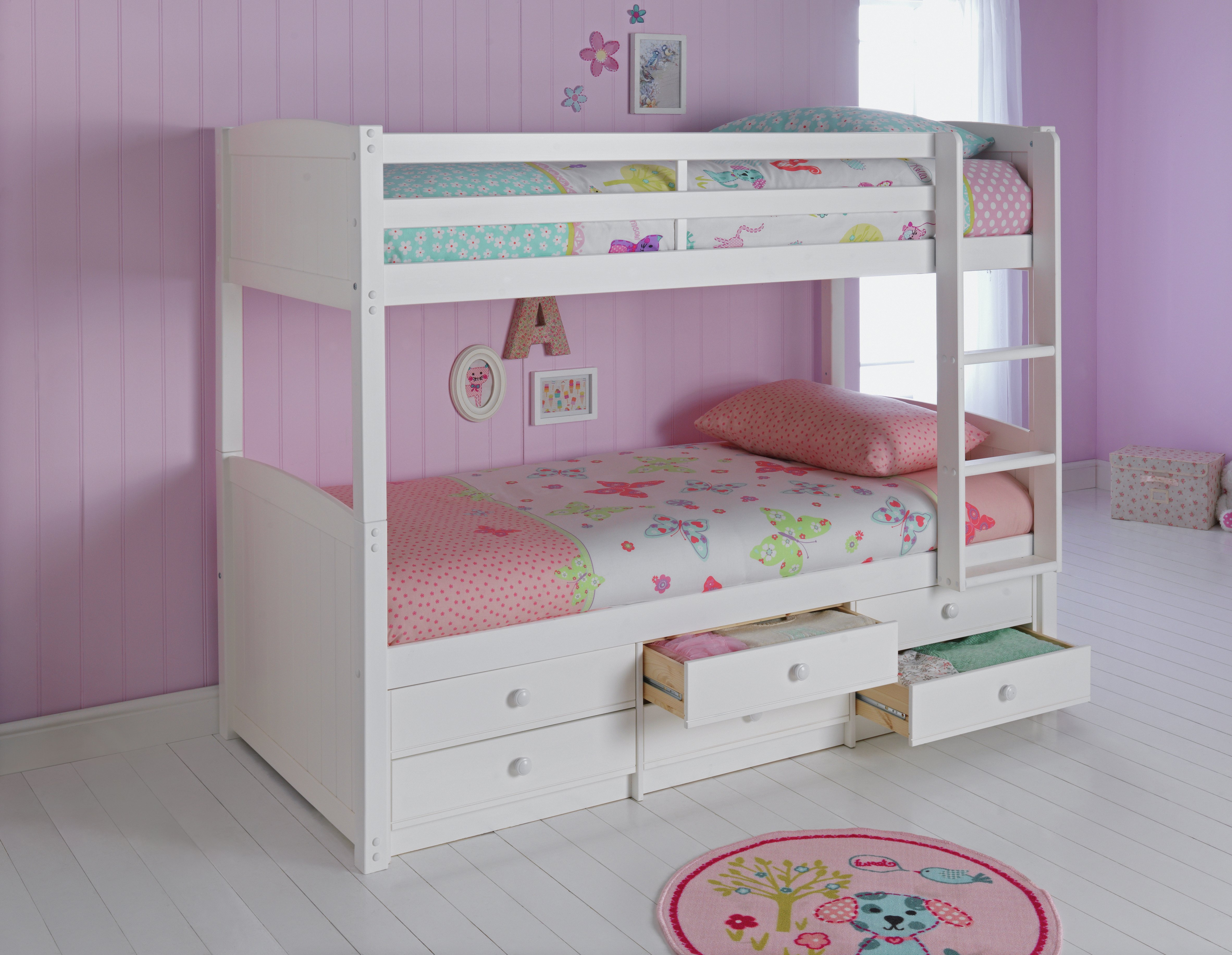 Image of HOME Leigh Detachable Single Bunk Bed Frame - White