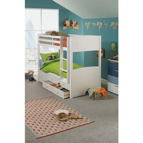 Buy Argos Home Leigh White Detachable Single Bunk Bed