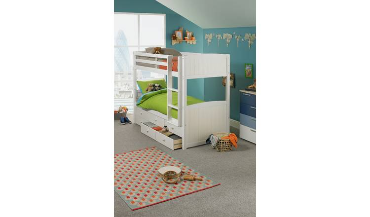 Argos Home Leigh White Detachable Single Bunk Bed Frame