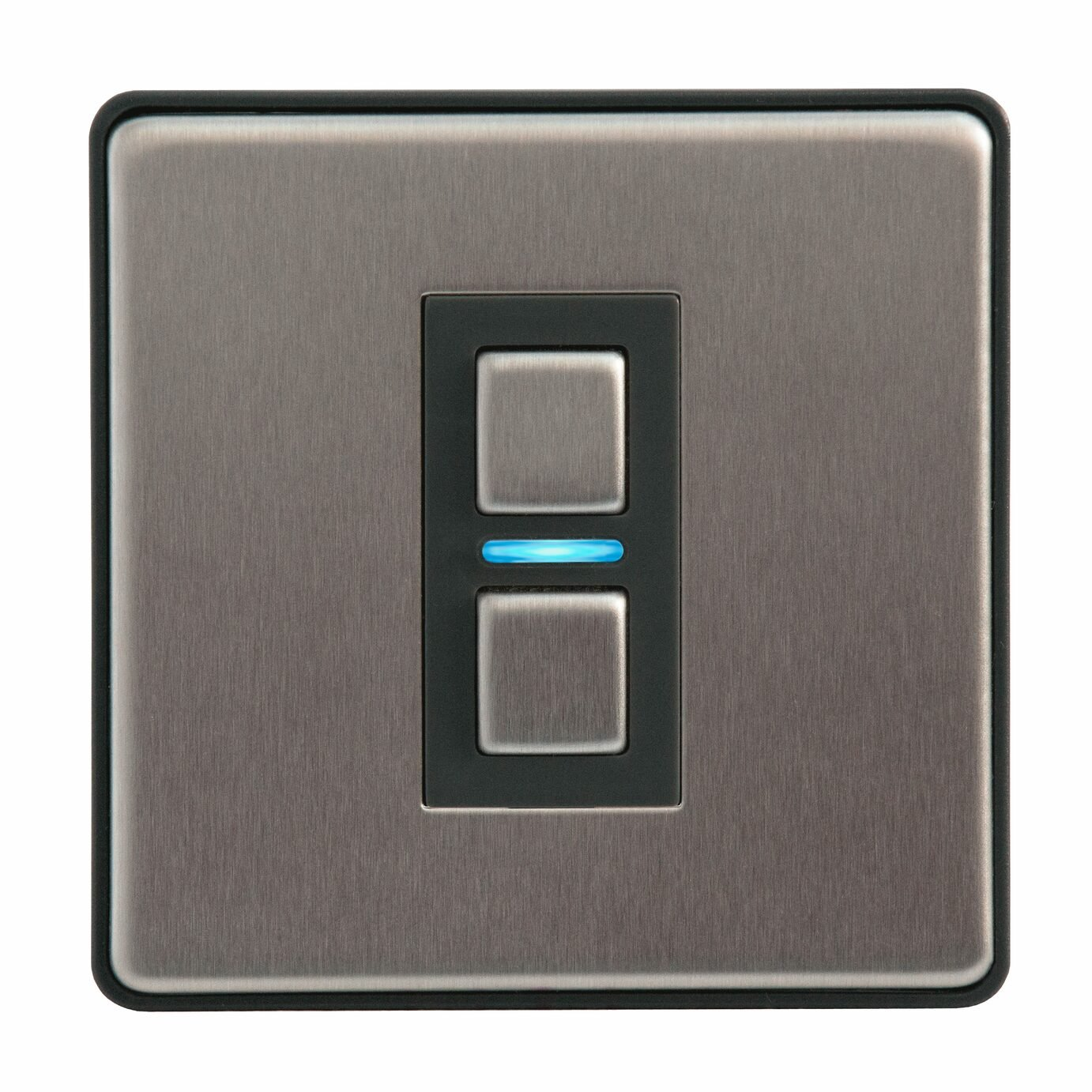 Lightwave Smart Series Dimmer - 1 Gang - Stainless Steel