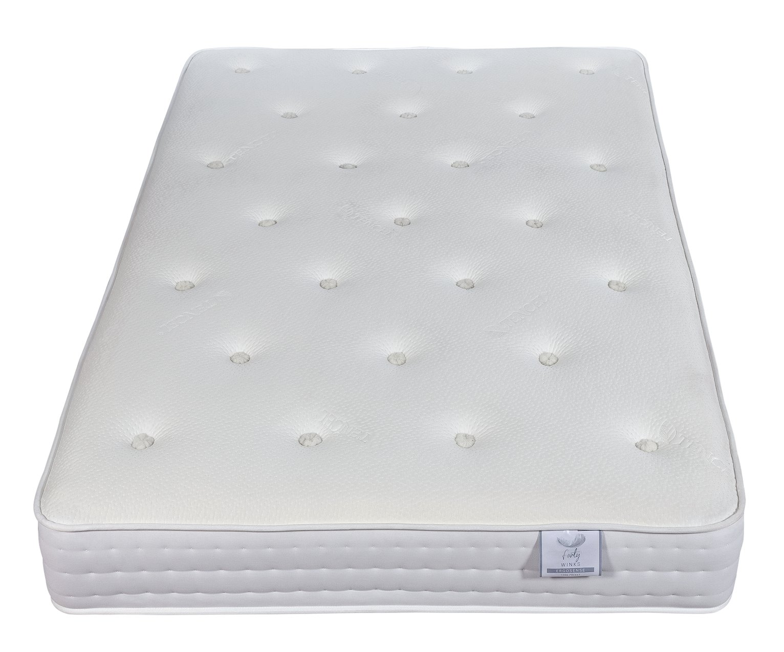 Forty winks 1000 pocket ergonomic kingsize mattress